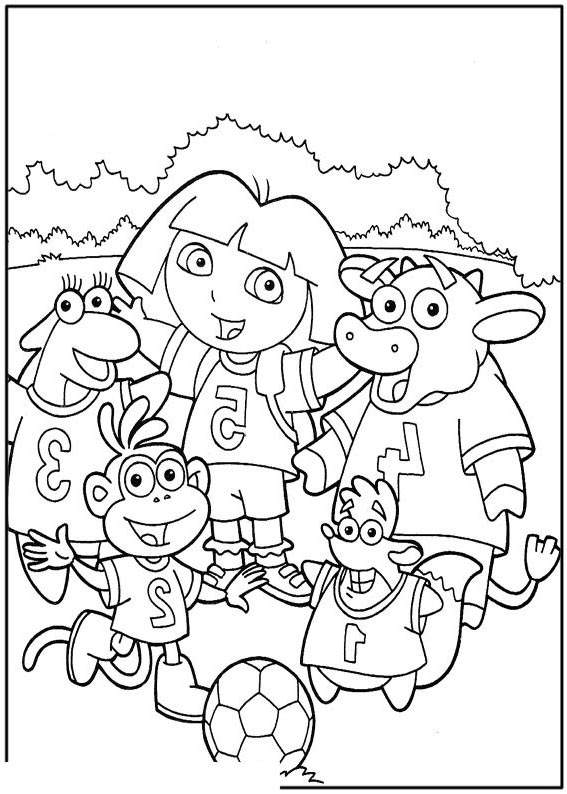 Free Printable Dora The Explorer Coloring Pages Black and White printable