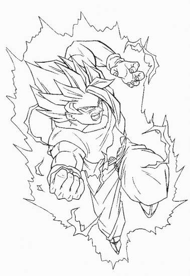 Free Printable Dragon Ball Z Coloring Pages Coloring Sheets printable