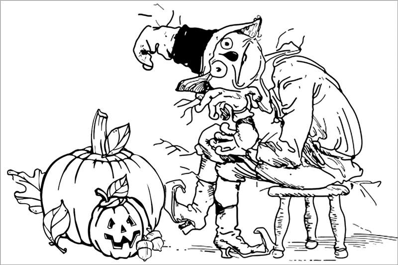 Free Printable Halloween Pumpkins Coloring Pages for Adults printable