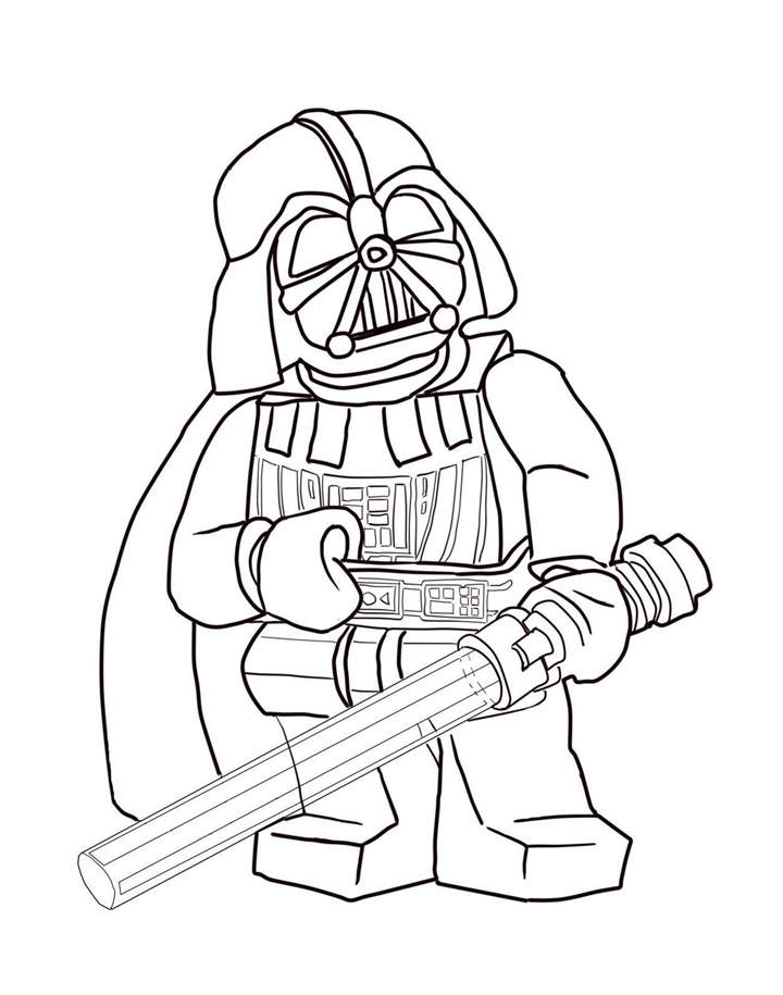 Printable LEGO Darth Vader Coloring Pages For Adults