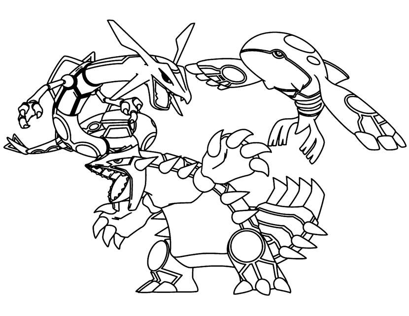 Printable Legendary Pokemon Coloring Pages Hand Drawing Free