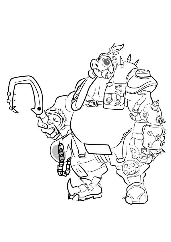 Free Printable Overwatch Coloring Pages Free to Print Roadhog printable