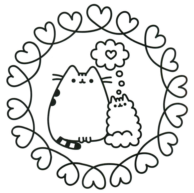 photograph about Pusheen Coloring Pages Printable named Printable Pusheen Coloring Webpages Sketch - Free of charge Printable