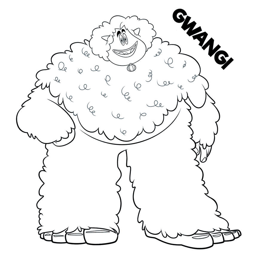 Free Printable Smallfoot Coloring Pages for Boys Gwangi printable