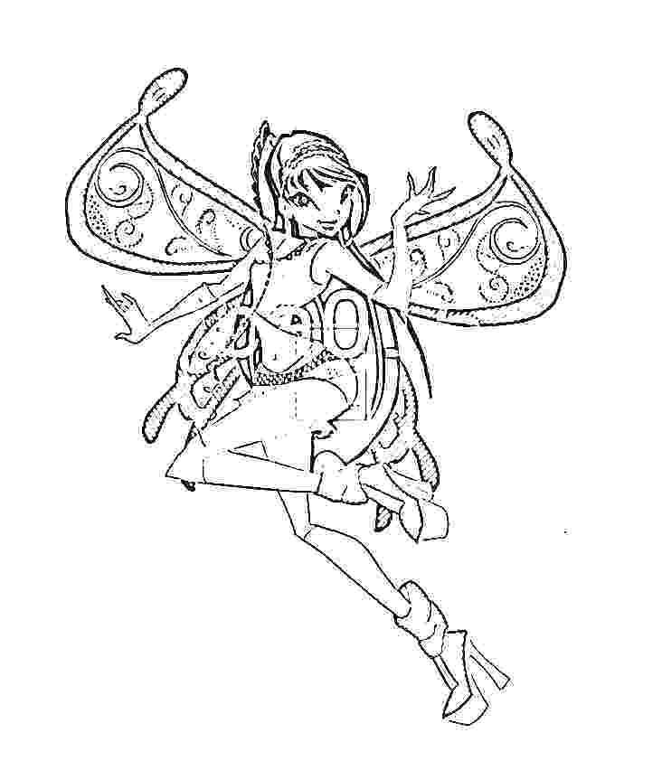 free winx doll coloring pages - photo#48