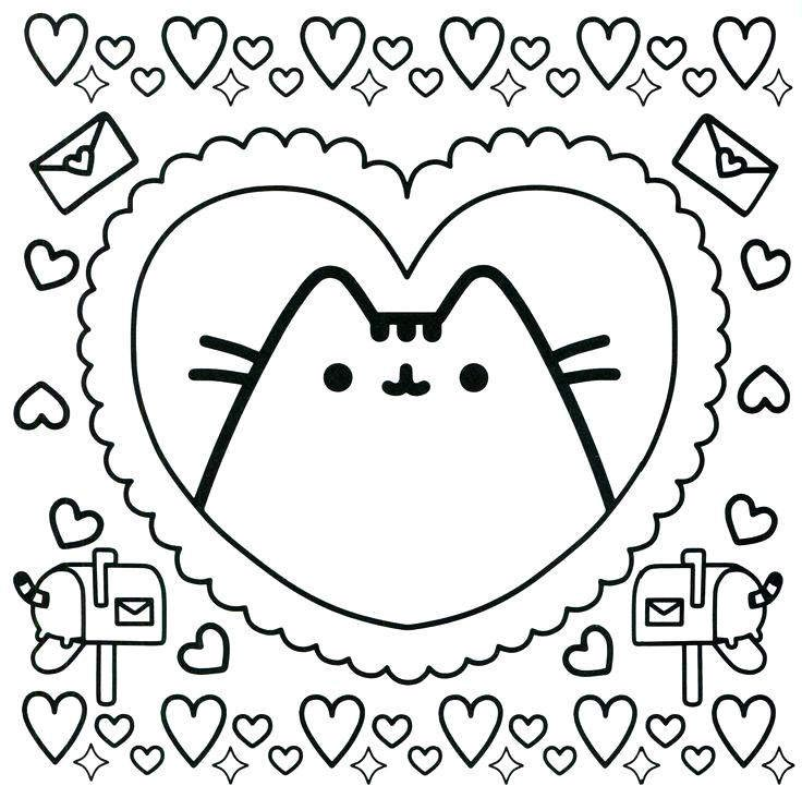 Free Pusheen Coloring Pages for Kids printable