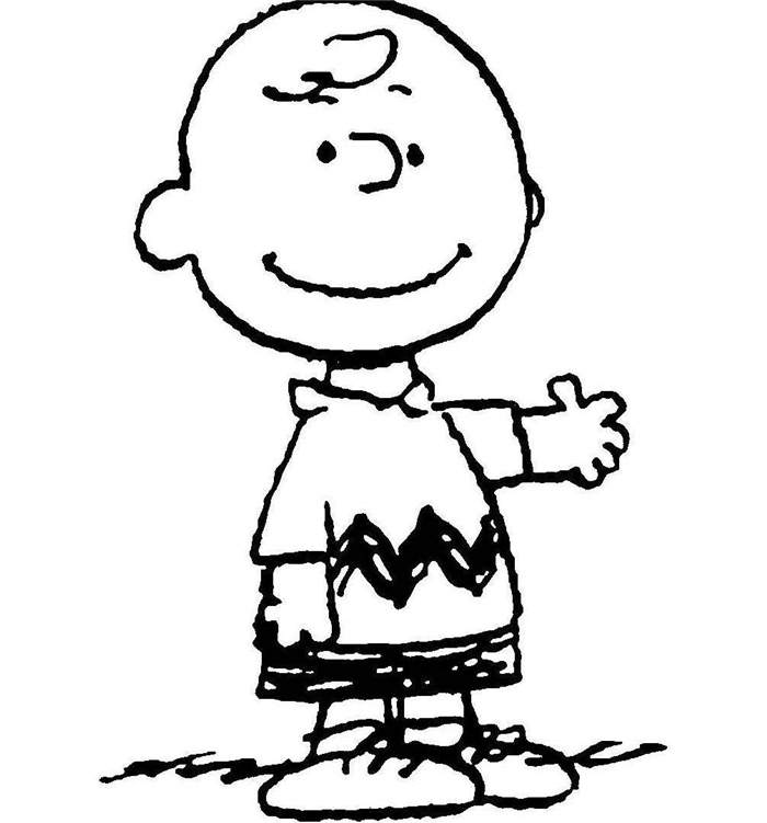 Simple Charlie Brown Coloring Pages Line Drawing - Free ...