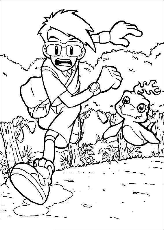 Free Simple Digimon Coloring Pages for Adults printable