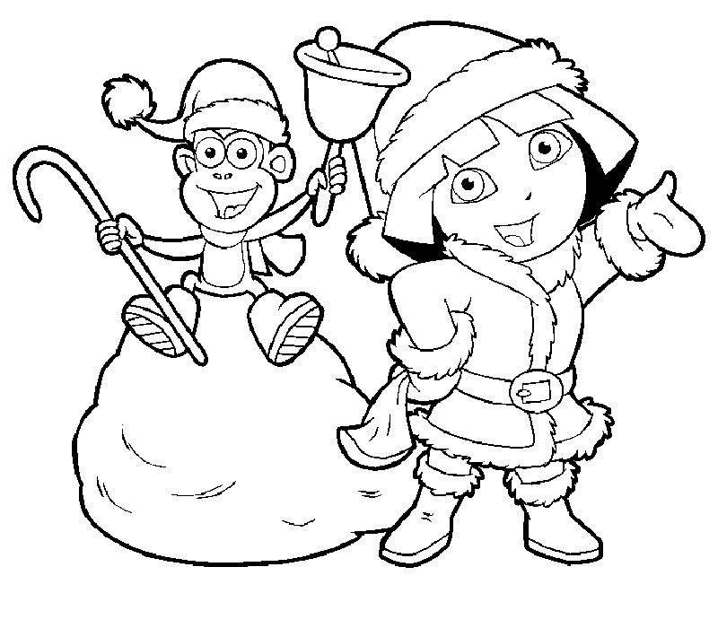 Free Simple Dora The Explorer Coloring Pages for Kids printable
