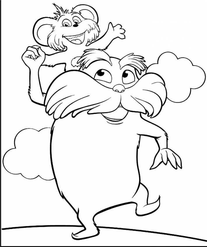 Free Simple Dr Seuss Coloring Pages Printable printable