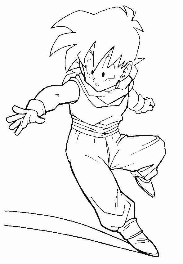 Free Simple Dragon Ball Z Coloring Pages Activity printable
