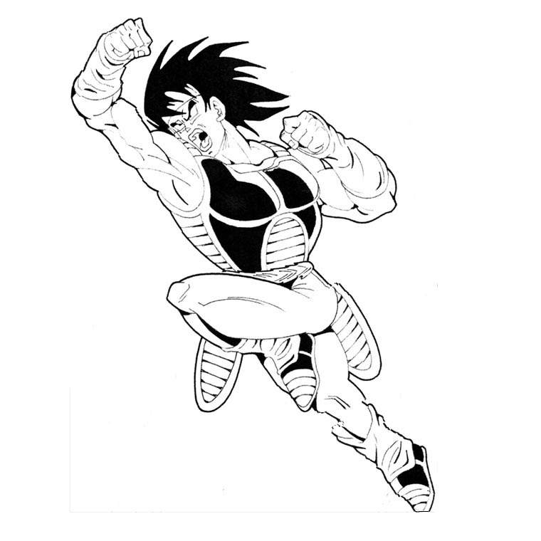 Free Simple Dragon Ball Z Coloring Pages for Adults printable