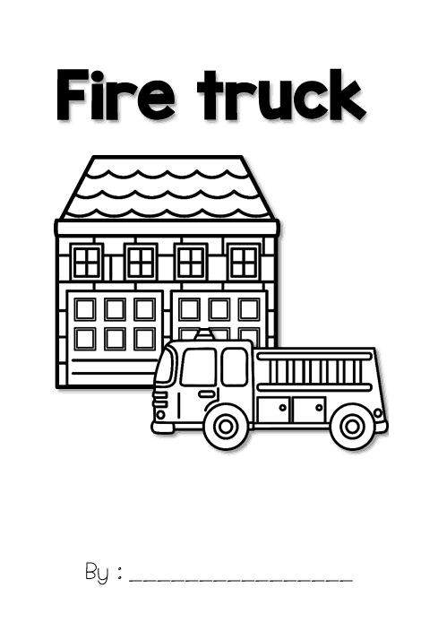 Free Simple Fire Safety Coloring Pages for Girls printable