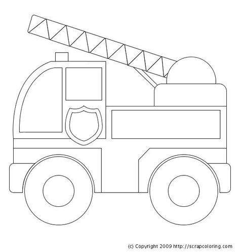 Free Simple Fire Safety Coloring Pages for Kids printable
