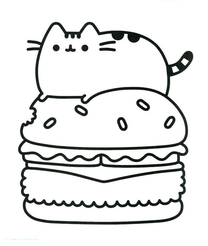 photo relating to Free Printable Pusheen Coloring Pages known as Easy Pusheen Coloring Internet pages Sketch - Totally free Printable