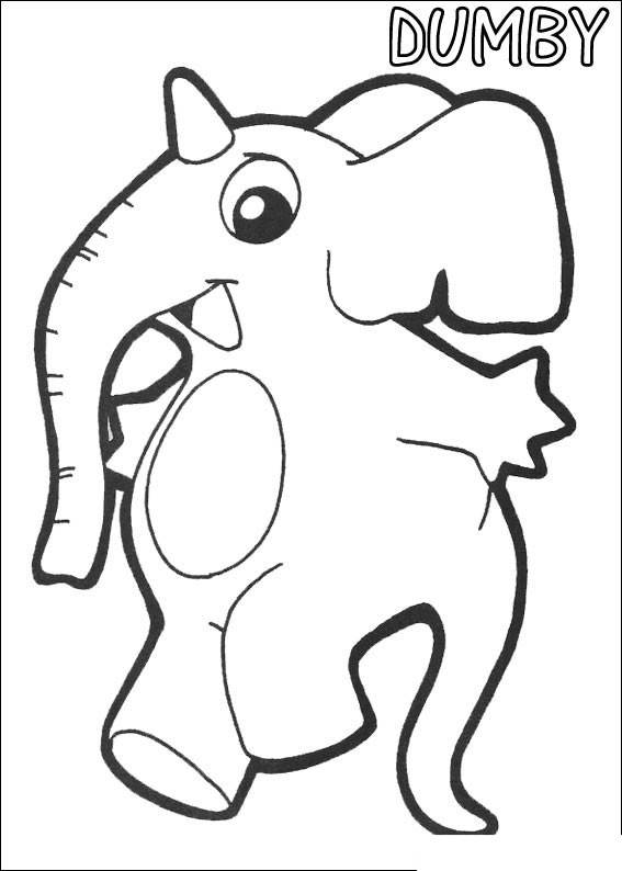 Free Simple Yokomon Coloring Pages Linear DUMBY printable