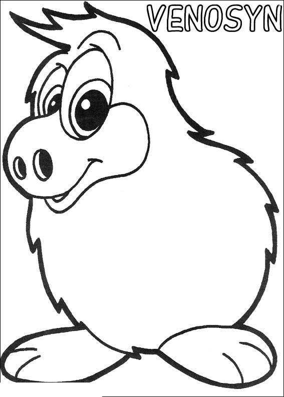 Free Simple Yokomon Coloring Pages for Kids VENOSYN printable