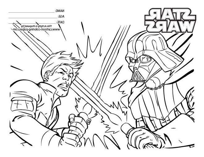 Star Wars Darth Vader Coloring Pages Printable