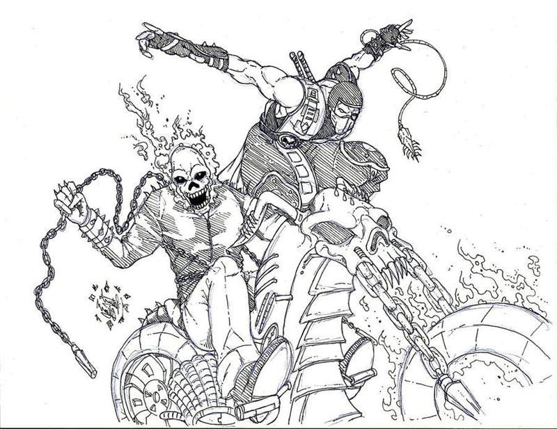 Superhero Ghost Rider Coloring Pages
