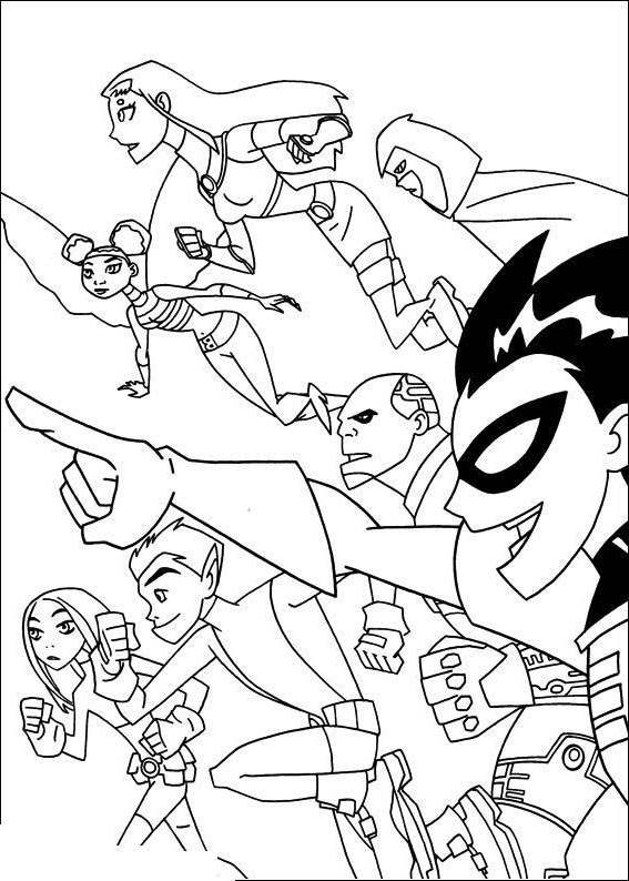 Free Teen Titans Coloring Pages Fan Art printable