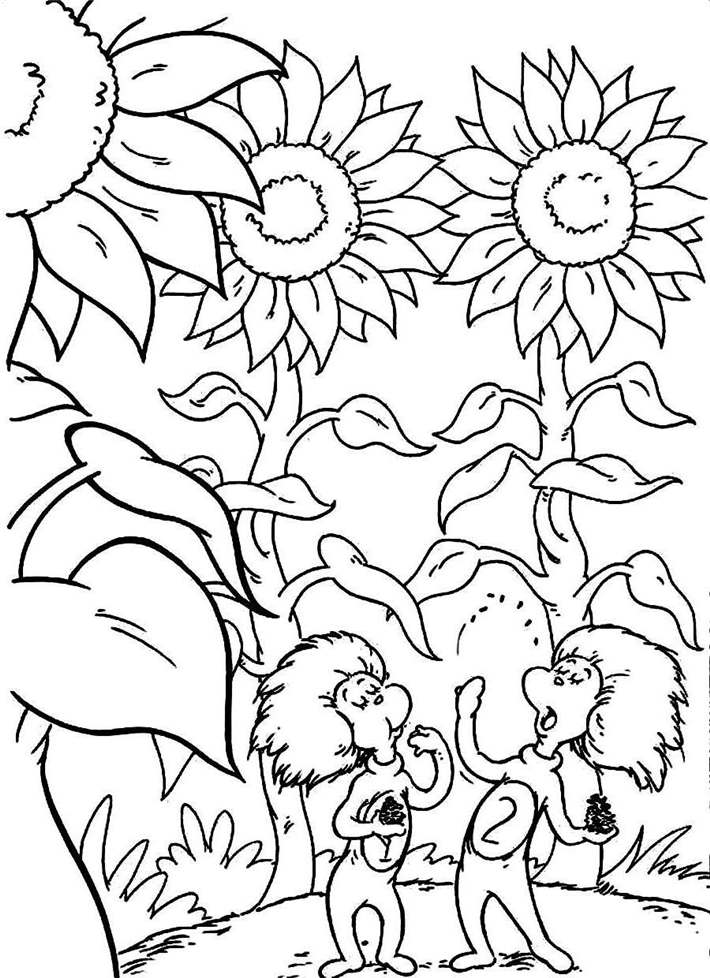 Free The Dr Seuss Coloring Pages Worksheet printable