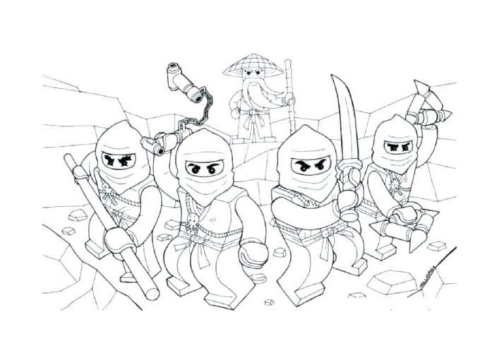 Free The LEGO Ninjago Coloring Pages Lineart printable