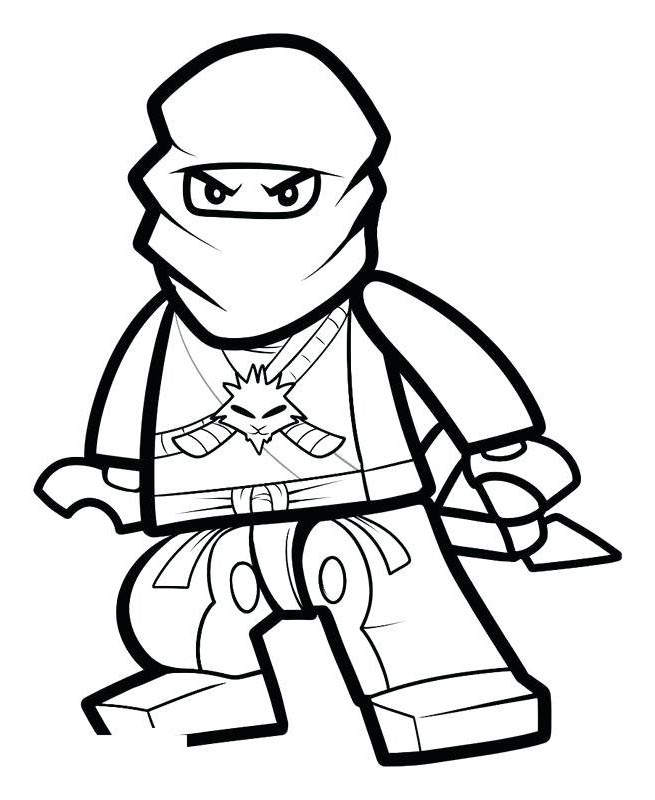Free The LEGO Ninjago Coloring Pages Outline printable