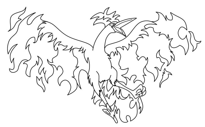 Free The Legendary Pokemon Coloring Pages Black and White printable