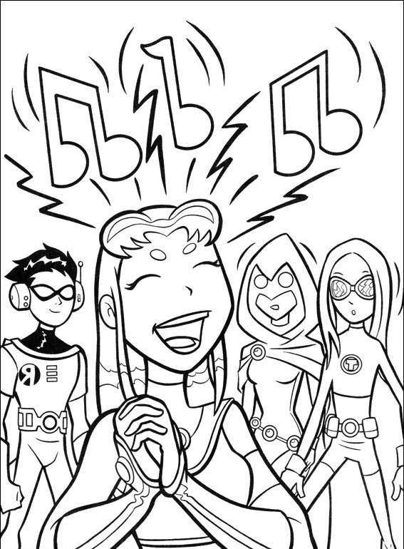 Free The Teen Titans Coloring Pages for Boys printable