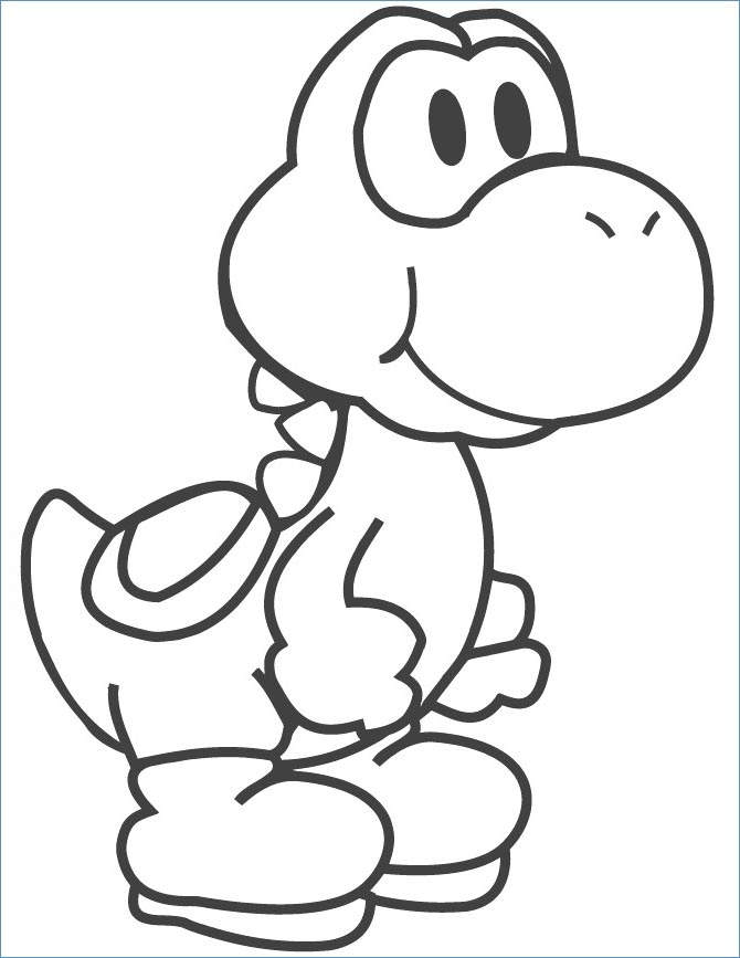 Free The Yoshi Coloring Pages for Girls printable