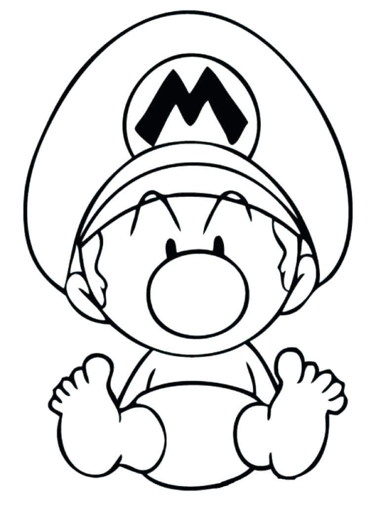 Free Yoshi Coloring Pages Hand Drawing printable