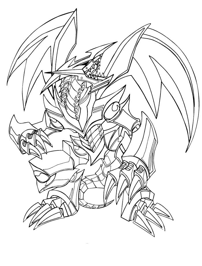 Free Yu-Gi-Oh Coloring Pages Free Download Blue Eyes White Dragon 31 printable