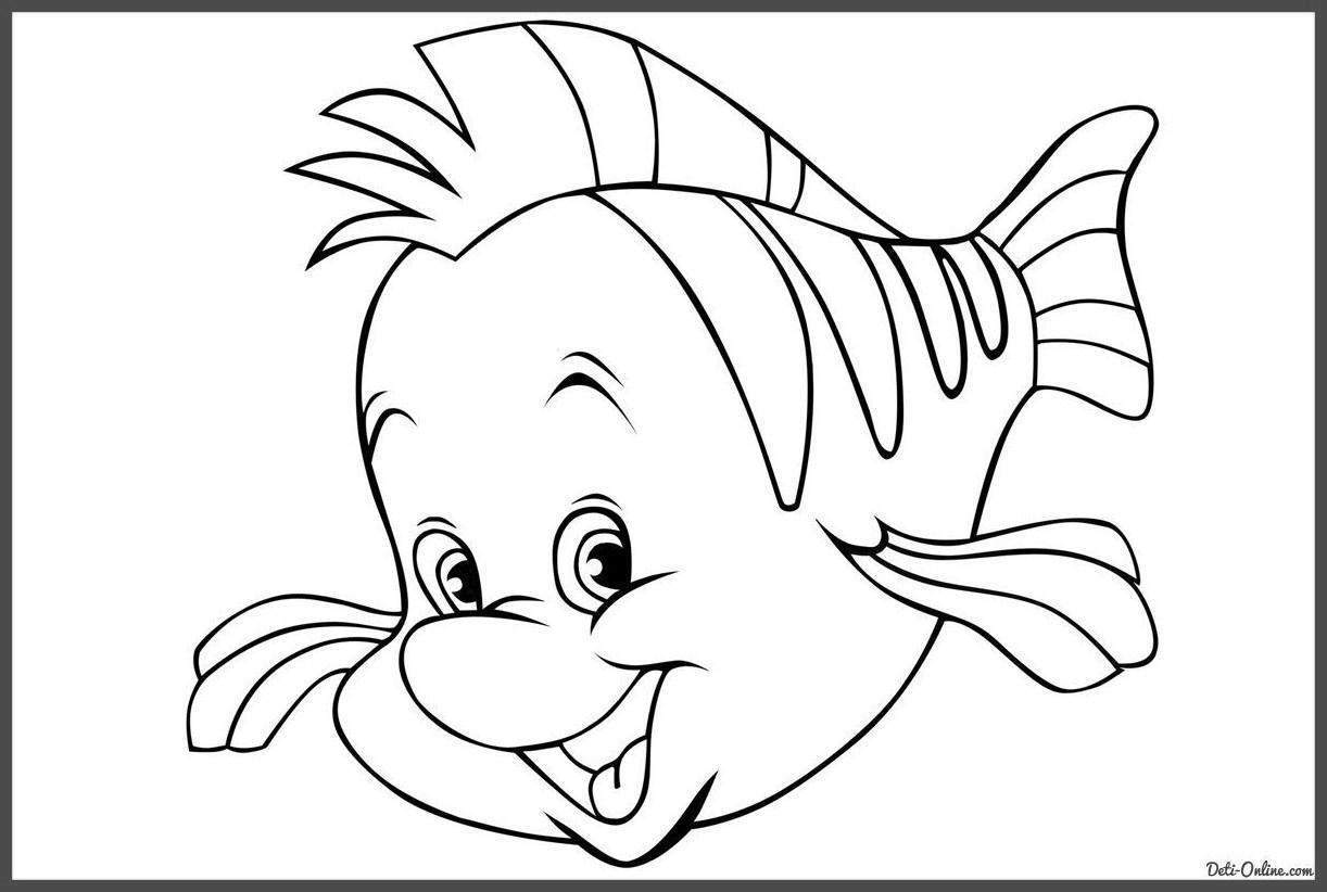 Free Ariel Coloring Pages Awesome Activity Little Mermaid Fish 90 printable
