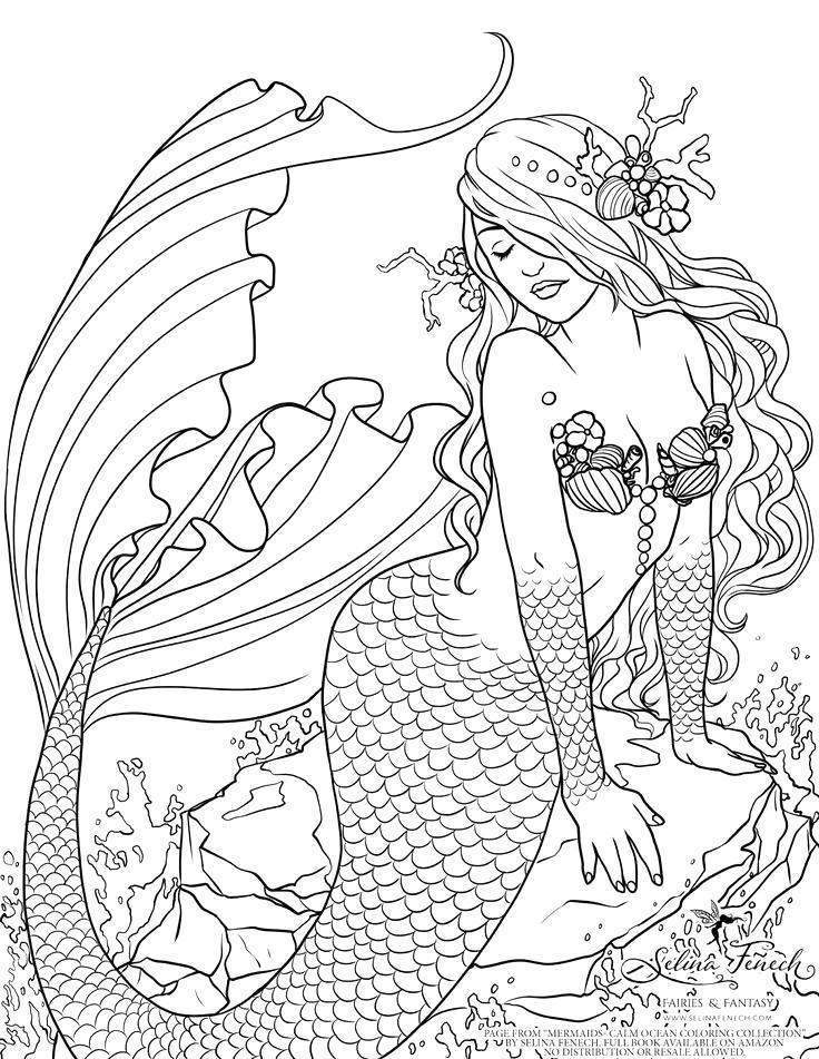 Free Ariel Coloring Pages Easy Lineart Mermaid Pictures 500 printable