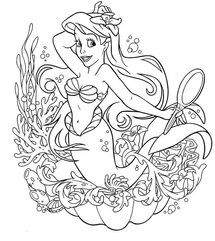 Free Ariel Coloring Pages Easy Printable Fresh 1692 printable
