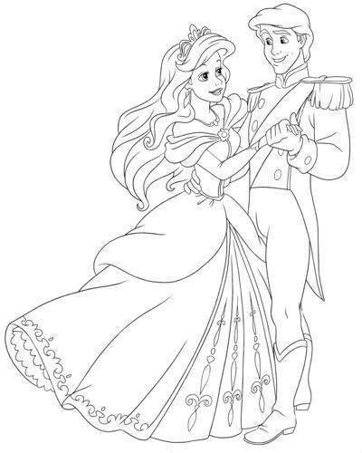 Free Ariel Coloring Pages Fancy Lineart Disney 2256 printable