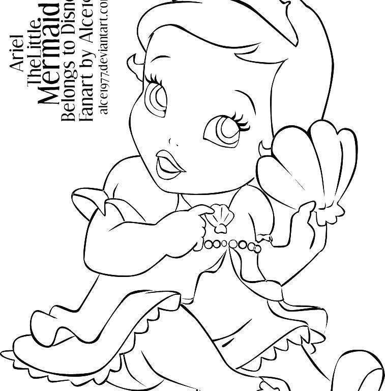 Free Ariel Coloring Pages Fancy Worksheet Princess Babies 2876 printable