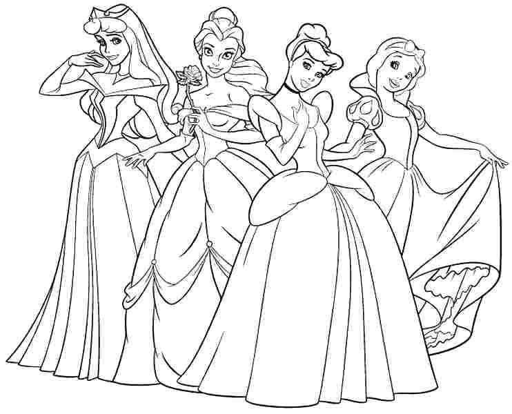 Ariel Coloring Pages Free Linear Princess Princess 1358 Free