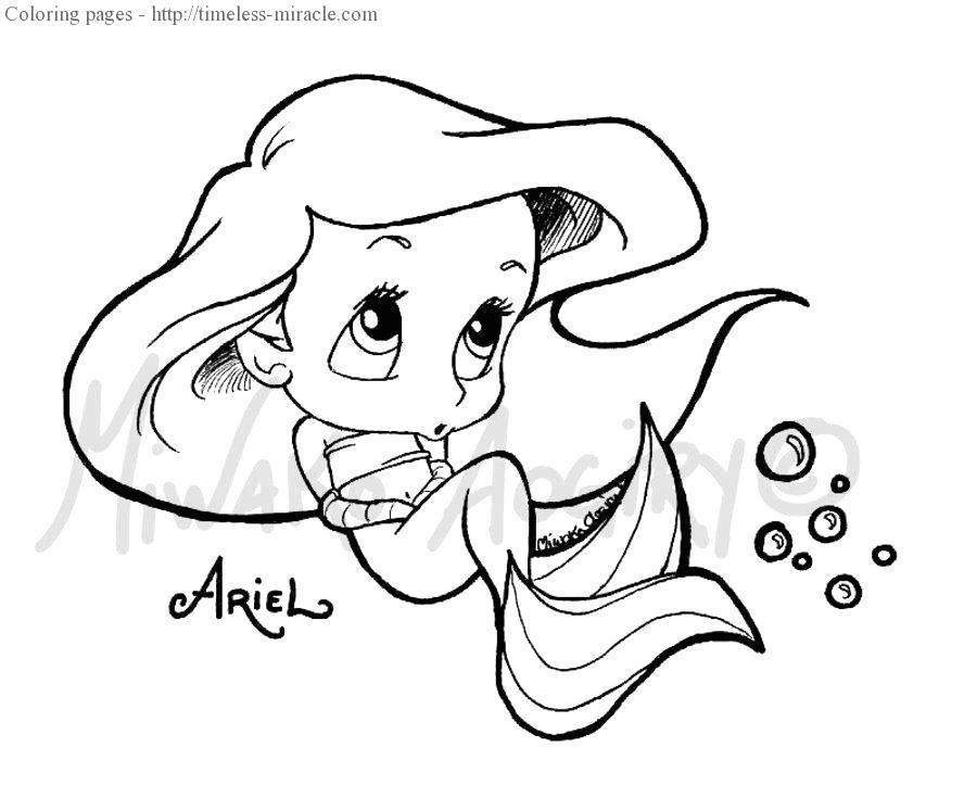 Free Ariel Coloring Pages Inspirational for Kids Lovely Baby Princess 1288 printable