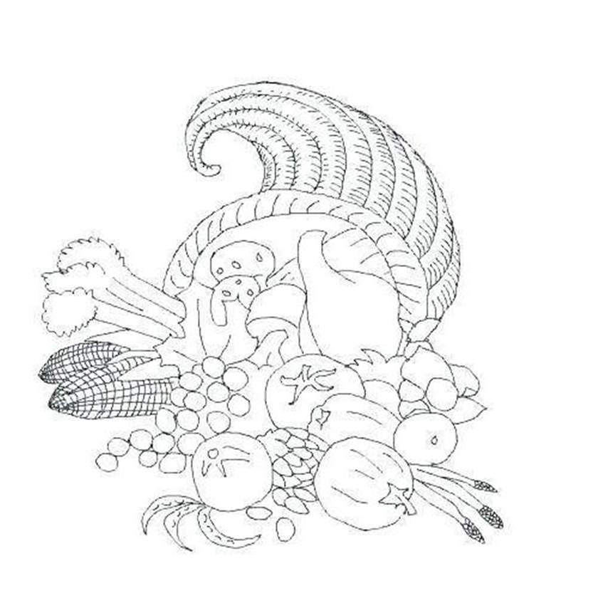 Free Cornucopia Coloring Pages New Line Drawing printable