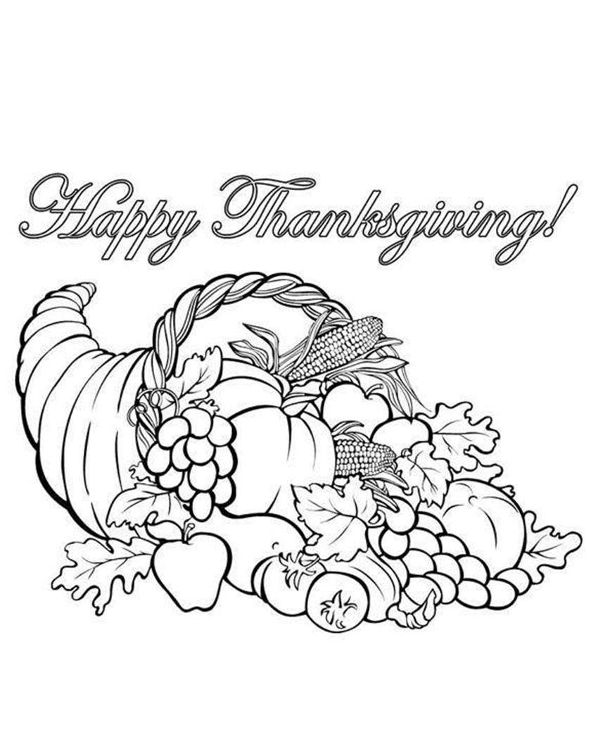 graphic regarding Cornucopia Coloring Pages Printable titled Cornucopia Coloring Web pages Printable Lineart - Cost-free Printable