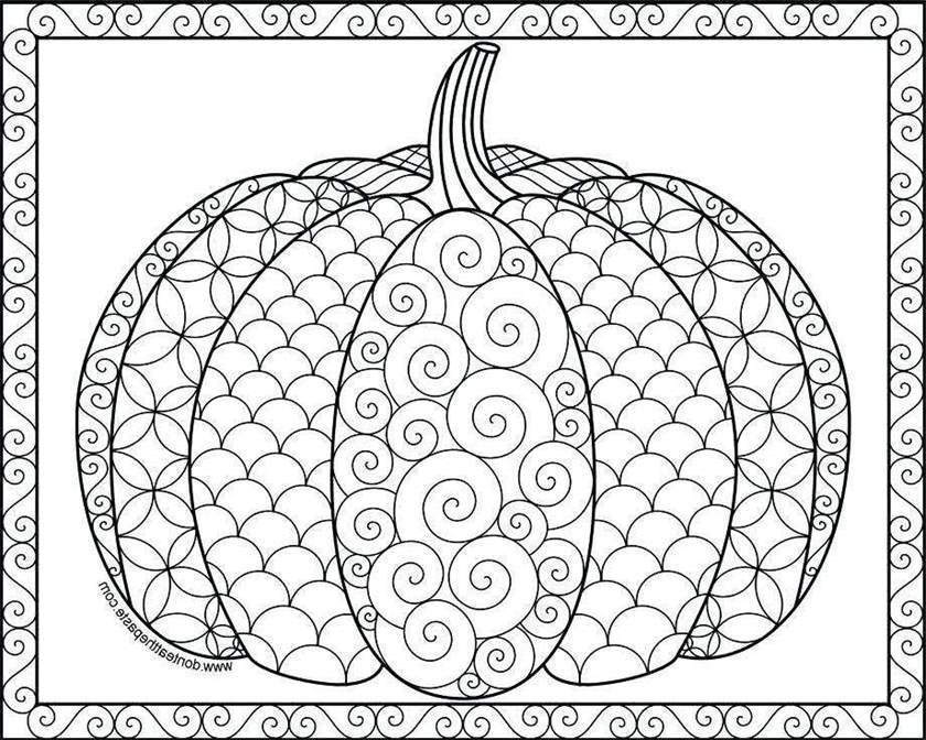 Cornucopia Coloring Pages Pumpkin Drawings - Free ...