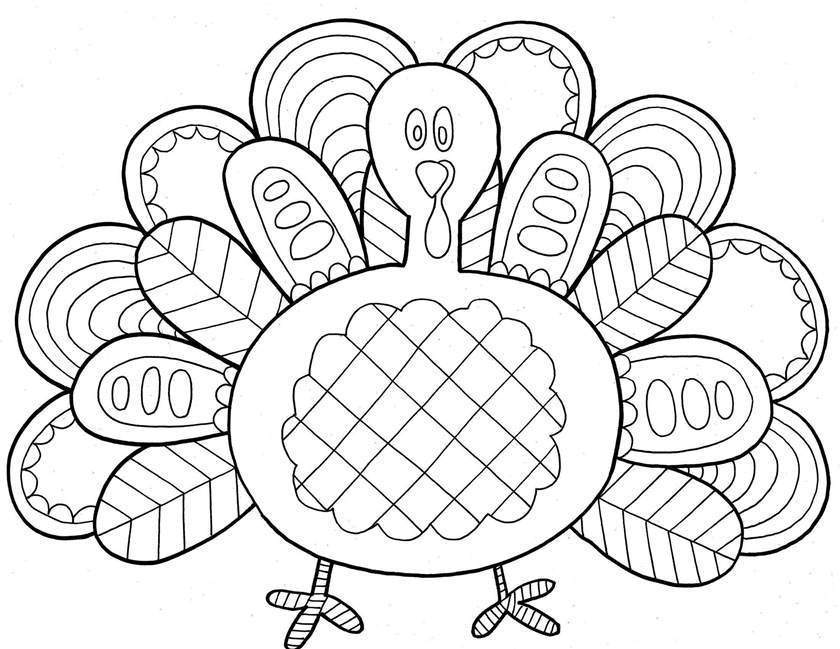 turkey and cornucopia coloring pages | Cornucopia Coloring Pages Turkey Black and White - Free ...