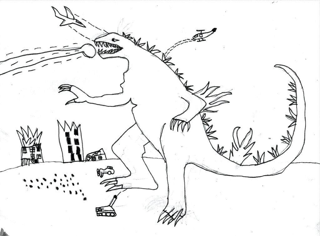 Godzilla Coloring Pages Awesome Lineart Vs To King Vs 482 Free