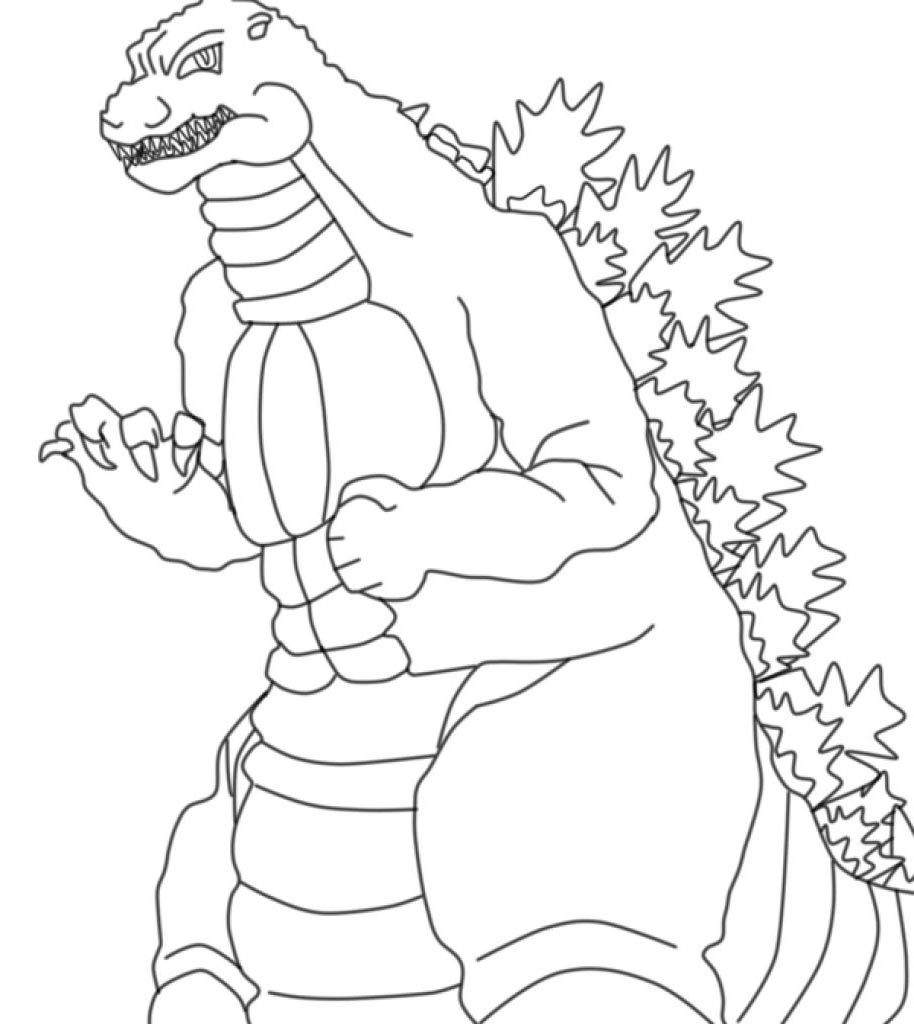 godzilla coloring pages for kids - photo#18