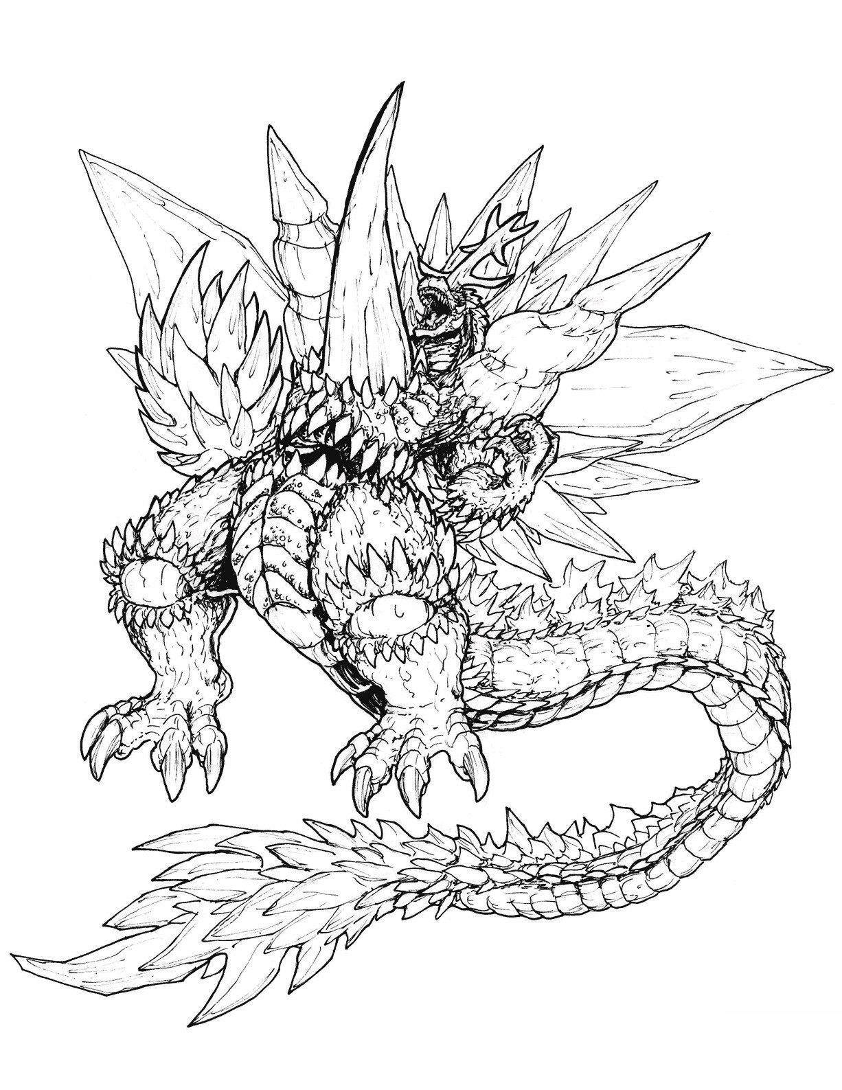 Godzilla Coloring Pages Fresh Characters Best Of Games 402 - Free ...
