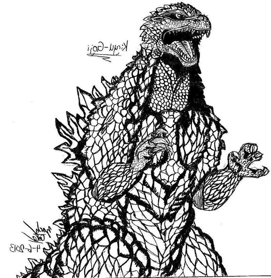 Godzilla Coloring Pages Fresh for Kids Mecha 561