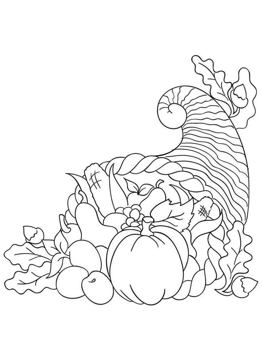 Free Great Cornucopia Coloring Pages printable