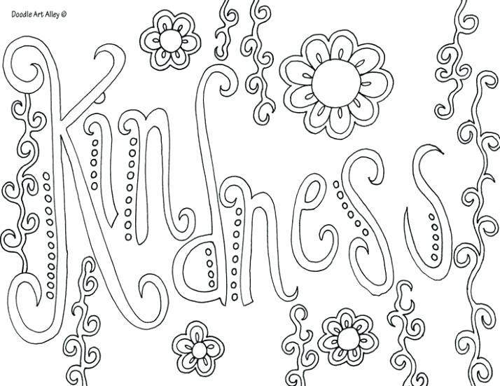 Free Kindness Coloring Pages Free Characters 185 printable