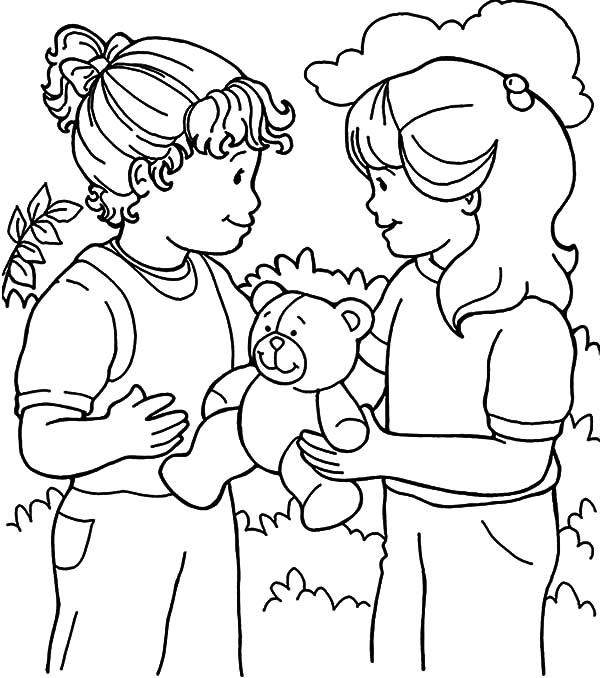 Kindness Coloring Pages Hand Drawing Sweet Inspiration ...
